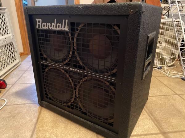 Photo FSOT WTT VTG Randall Road Warrior 410 Bass Speaker Cab Cabinet Sounds Great - $350 (Yukon)