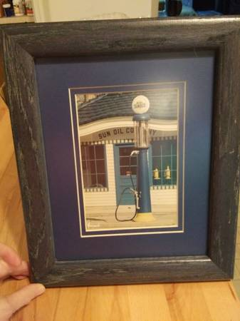 Photo Framed Photo of Vintage Sun Oil Co. Gas Pump  Station - $10 (Norman)