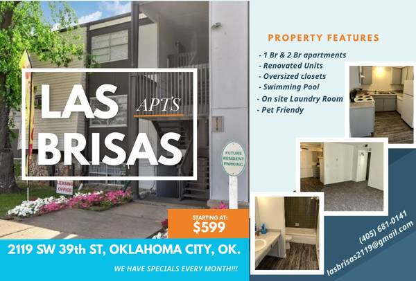 Photo LAS BRISAS APARTMENTS WHERE YOUR JOB IS YOUR APPROVAL (Oklahoma City)