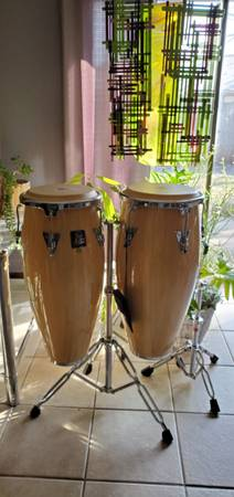 Photo LP Aspire conga drums with stand - $500 (Oklahoma City)