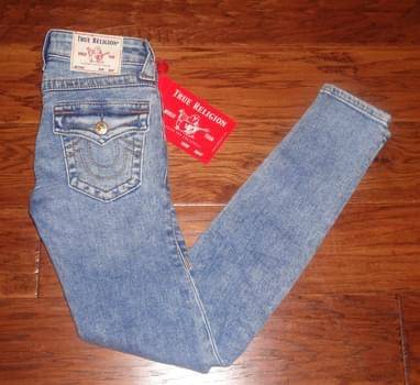 Photo NWT Ladies TRUE RELIGION Size 024 Halle Mid Rise Super Skinny Jeans - $75 (Edmond)