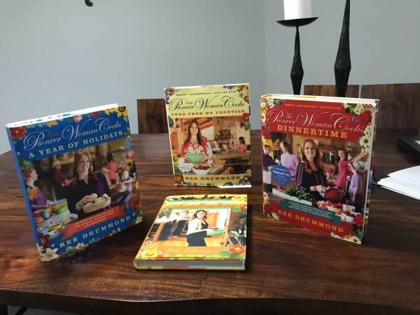 Photo Pioneer Woman cookbooks - $60 (Oklahoma City)
