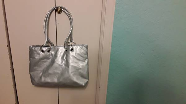 Purse, silver color, gold one just like it - $10 (SE OKC)