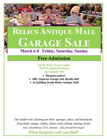 Photo ROAD TRIP  100 Garage Sales inside - starts Friday (Springfield)