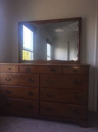 Photo Solid Maple vintage dresser by Ethan Allen - $400