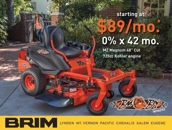 Photo 0 for 42 Months ($89Mo) Bad Boy MZ48 Zero Turn Mower, Kohler Engine - $4199 (Pacific, WA)