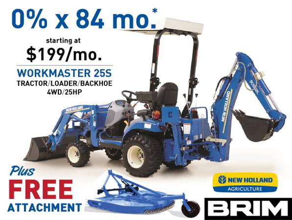 Photo 0 for 84 Months ($199Mo) New Holland 25S Tractor Loader Backhoe - $20500 (Pacific, WA)