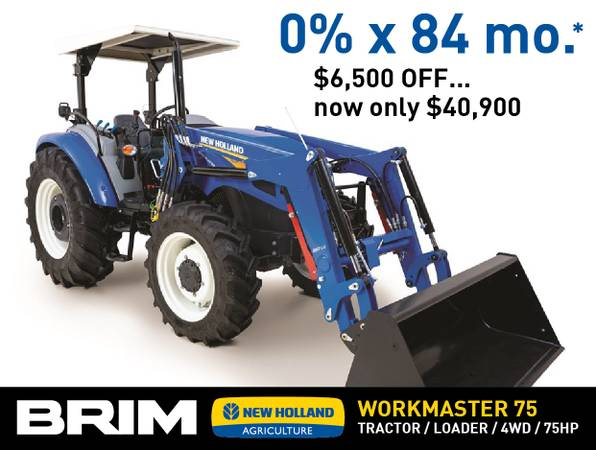 Photo 0 for 84 Months ($399Mo) New Holland WorkMaster 75 Tractor Loader - $40900 (Pacific, WA)