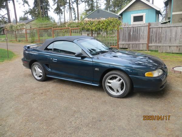 Photo 1995 Mustang GT Convertible - $3995 (Port Townsend)