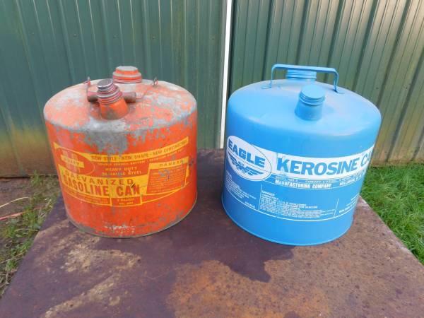 Photo 5 Gallon Metal Gas Cans - $45 (Hoquiam)