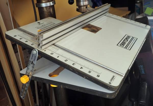 Photo Adjustable Drill Press Table - Craftsman - $100 (Port Angeles)