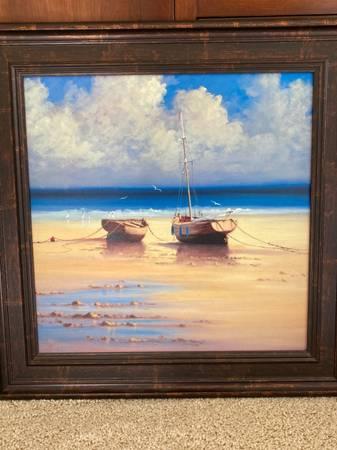 Photo Beautiful seashore sailboat paintings - $60 (Port Angeles)