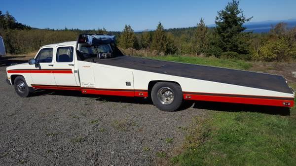 Car Hauler Ramp Truck 1983 Chevy C30 1 Ton 10900 Sequim