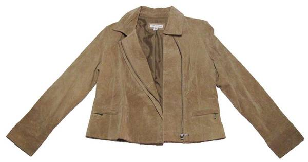 Photo COLDWATER CREEK, WOMENS 100 LEATHER JACKET - $18 (Chimacum)