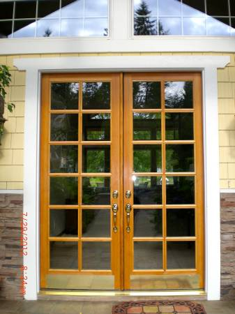 Photo Custom DOORS EXTERIOR Double French doors - $4,200 (woodinville)
