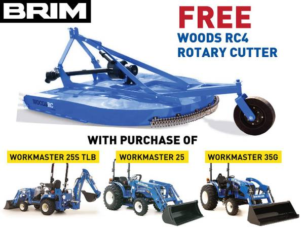 Photo FREE Woods RC4 Rotary Cutter with New Holland Tractor Purchase (Pacific, WA)