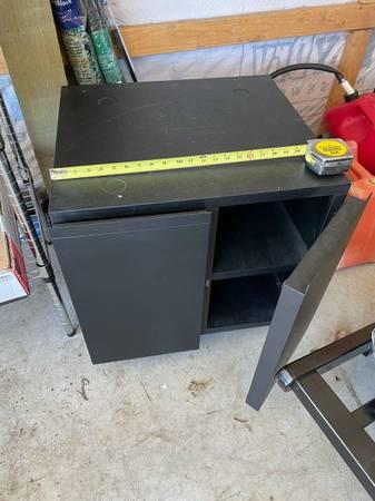 Photo Metal Rolling Storage Unit - $40 (sequim)