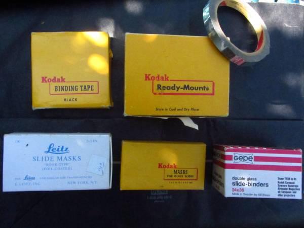 Old slides, storage pages, reusable mounts, etc. - $45 (Broadview)