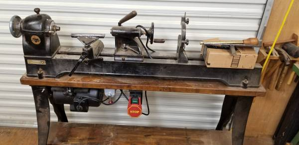 Photo RockwellDelta 46-1460 wood lathe - $500 (Brinnon)