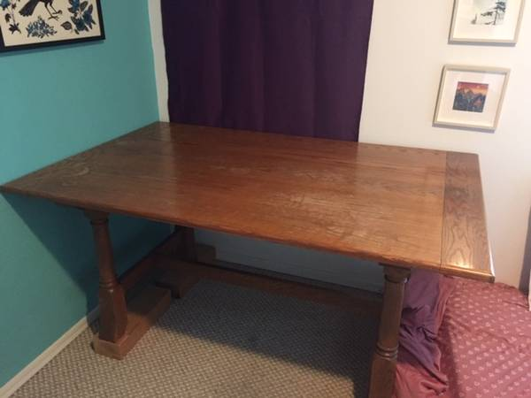 Photo Solid oak dining set - $250 (Pacific Beach)