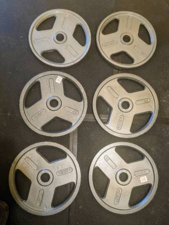 Photo Weider 45 lb. Olympic Weight Plates. Three pairs, $180 per pair - $540 (Port Angeles)