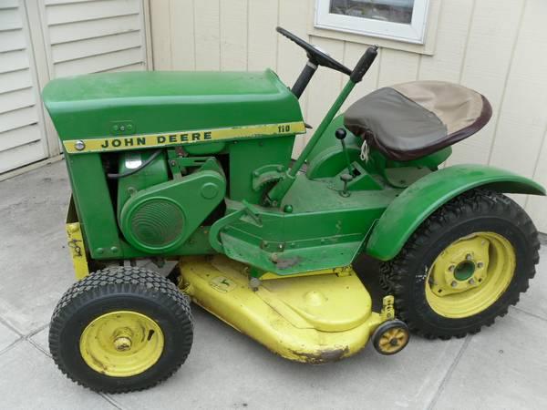 1965 John Deere 110 Round Fender Lawn Tractor 1250 Plattsmouth Garden Items For Sale Omaha Ne Shoppok