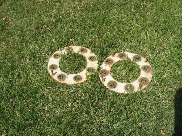 Photo 2 dually rim locking rings. chevy gmc dodge dually. others. - $50 (benson pickup. cash.)