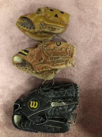 Photo 3 kids baseball gloves - $50 (omaha)