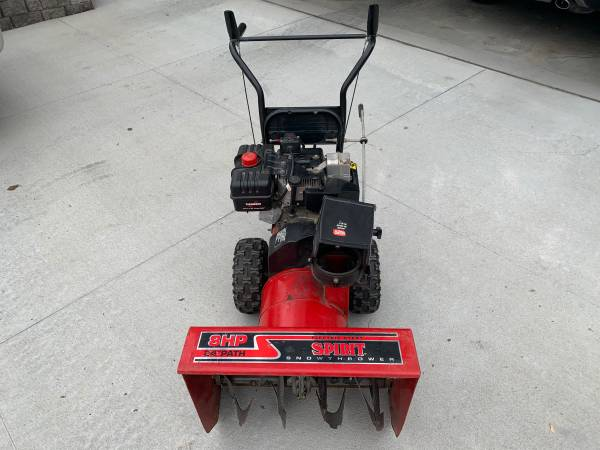 Photo 8hp 24 2 Stage Snow Blower Used - $250 (Chalco)
