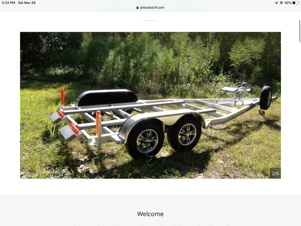 Photo Airboat trailer - $4500 (Omaha)