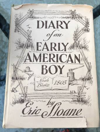 Photo Antique  Vintage Book Diary of an Early American Boy - $7