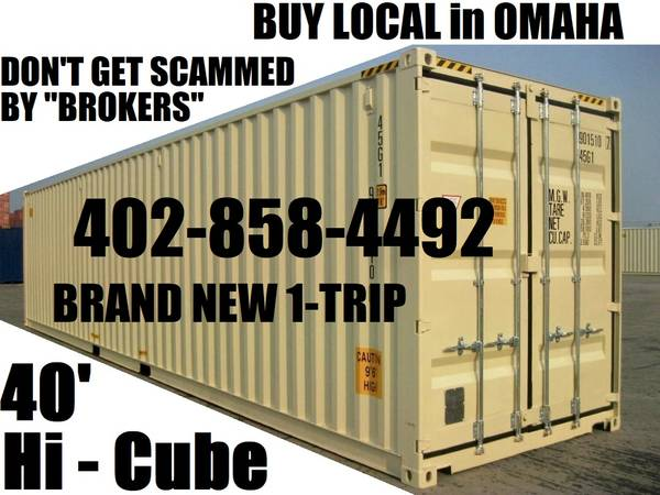 Photo BACKYARD STORAGE SHED CONTAINERS CONEX CARGO CONTAINER PODS BOX POD (Omaha Container Sales)