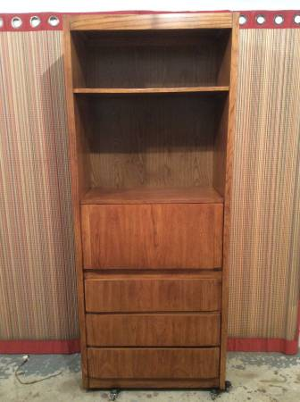 Photo Book case-desk with light-3 drawers on bottom-3 in 1 purpose stand - $145 (Lavista)