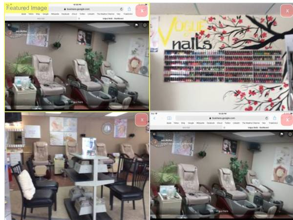 Photo Booth rental nail station with Pedicure Chair $75 per week. Nails Salo - $75 (52  Center St)