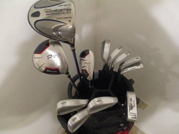 Photo Golf Clubs and Bag Excellent RH Mens King Cobra SSi set - $290 (Gretna, NE)