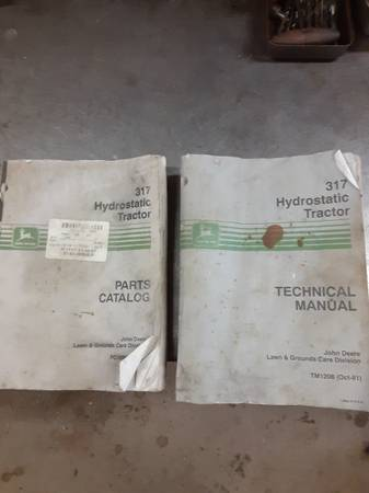 Photo John deere 317 tech manual and parts catalog - $20 (Bellevue)
