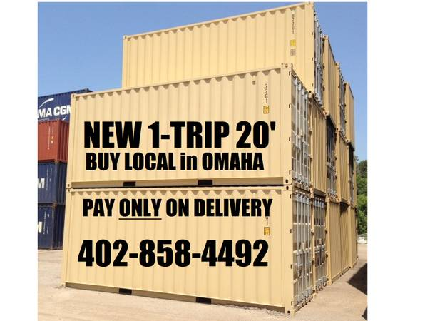 Photo ONE TRIPPER brand new STORAGE CONTAINERS CONEX CONTAINERS PODS BOX (Local in OMAHA)