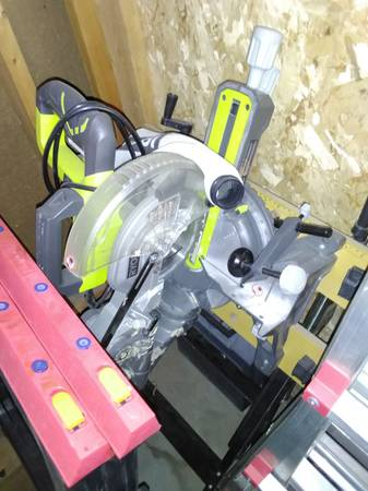 Photo Ryobi Trim Saw, Telescoping 7 14quot, w Stand - $99 (Omaha)