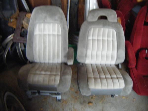 Photo Two (2) Gray Chevy  GMC Truck Bucket Seats - $50 (Omaha)
