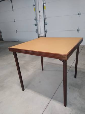 Photo Vintage LEG-O-MATIC Wooden Folding Table for Airtream or Tiny House - $50 (Omaha)