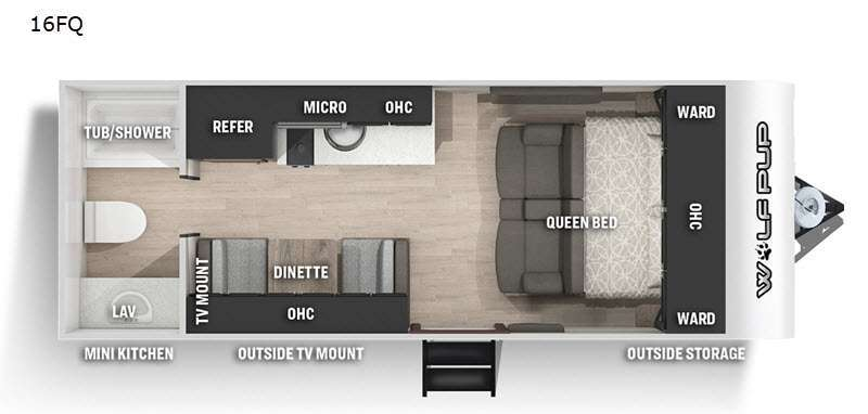 Photo 2021 Forest River Rv Cherokee Wolf Pup 16FQ $13988