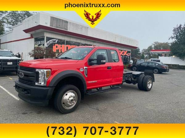 Photo 2018 Ford F-550 F550 F 550 4dr 4wd CHASSIS DIESEL dump or hauler ready - $39,999 (cnj)