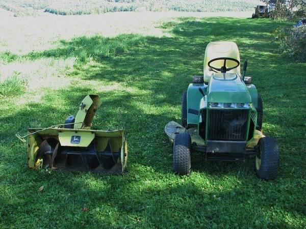 Photo 210 John Deere Snowblower, Garden Tractor, Mower Deck - $750