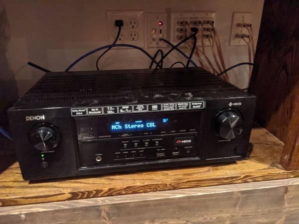 Photo Denon AVR S730H 7.2 network home theater receiver and Polk Audio speakers - $275 (Nassau)