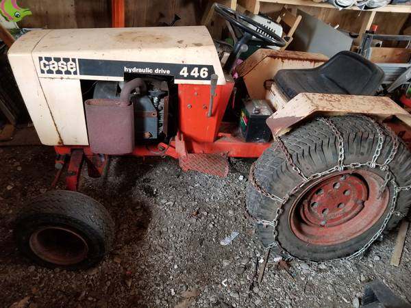 Photo case 446 tractor - $750 (east meredith)