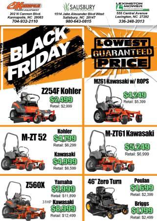 Black Friday Sale New Husqvarna Zero Turn Mowers Starting At 1 699 1699 Salisbury Power Equipment Garden Items For Sale Jacksonville Nc Shoppok