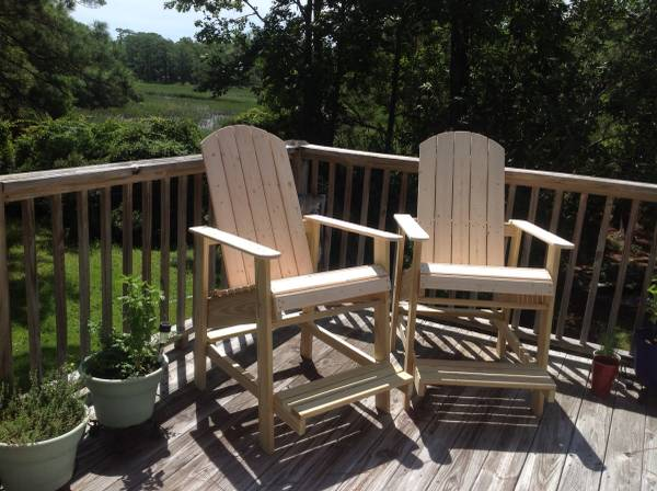 Photo Captains Deck or Dock Chairs and Adirondack Chairs - $155 (Ocean Isle Beach NC)