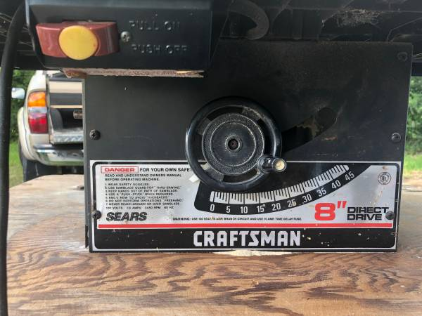 Photo Craftsman Table Saw - $75