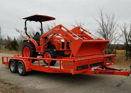 Photo Diesel Tractor KUBOTA L2501 tractor package loader trailer 4X4 For Sa - $10,000