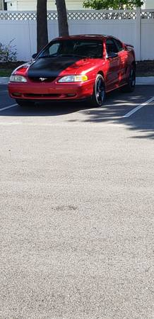 Photo Laser Red 1995 Mustang gt (little river sc)